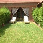 jardin privé de notre chambre