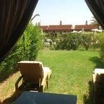 vue de notre terrasse sur la piscine