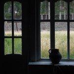 Blick durch das Speisesaal-Fenster