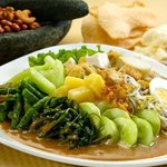 Gado Gado with local vegetables.