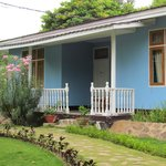 our triple bungalow in a nice garden