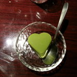 Finish with Green Tea Ice Cream