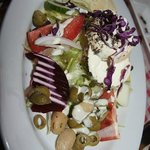 Salad with local cheese.