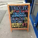 Truscotts Mother's Pasty Sign