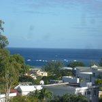 Vue sur l'océan Indien depuis le balcon du studio Le Marlin Bleu