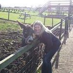 me and one of the donkeys