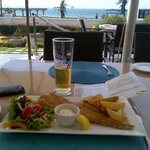 Lunch on terrace, fresh fish of day a must
