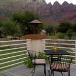 Part of the terrace (and the view) of the Hidden Canyon room