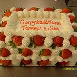 Congratulations Cake - Strawberry Supreme