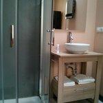 Douche + lavabo