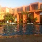 piscine en fin de journée