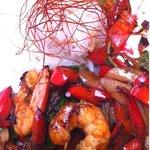 Stir Fried Chilli&Basil Prawns