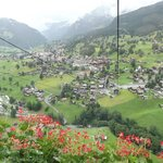 Cable car ride up to Pfingstegg, overlooking Grindelwald.