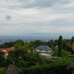 View of Bujumbura and DR Congo from hotel restaurant