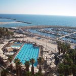 View from our room facing the Tel Aviv Marina and the Gordon Pool