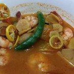 Shrimp tom yam soup ... half way done