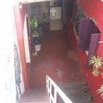 Escalera desde la terraza