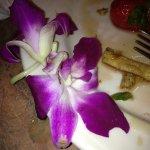Wilted flowers on my breakfast plate