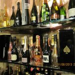 The wine cellar, Champagne section
