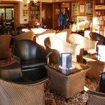 Engadinerhof Library - great public room