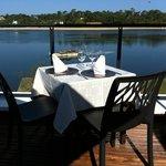 notre table vue de la terrasse panoramique