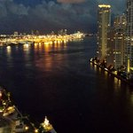 Biscayne Bay from the patio at night