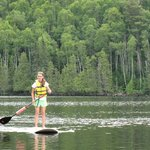 Paddle boarding on E. Bearskin Lake
