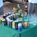 Evening safari drinks