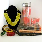 Vintage Barware, Bakelite and Signed Books