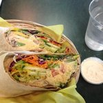 baked falafel and hummus wrap is awesome!