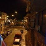 Delfini Breakfast Balcony - looking towards port & my boat ~6am