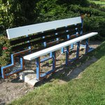 Fun Dutch Design bench in Westbroekpark