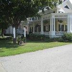 The wraparound porch