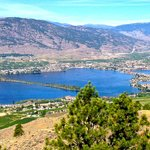 Haynes Point (center) in Osoyoos Lake. Taken from View Point on Crowsnest hwy.