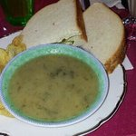 The lunchtime soup and sandwich