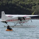 Glenn (pilot) had to kayak to the plane after the tide came in