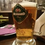 Bernard, a family owned Czech brewery, produces a classic light lager.