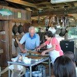 Mr Bill & Mrs Becky serving Breakfast
