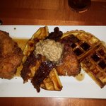 Crispy Chicken and Waffles Wonderful !