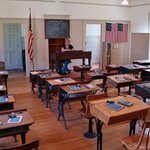 Inside the Schoolhouse Museum.
