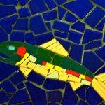 Fish Mosaic on Washroom Wall