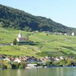 View from Lake Biel of Ligerz