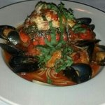 spicy seafood stew with lobster tail