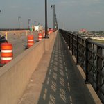 Pedestrian walkway across Eads Bridge looking east
