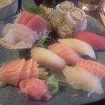 sushi and sashimi for 1