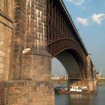 Western bridge pillar up close
