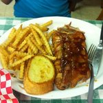 half rack of ribs and crispy fries!!