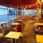 カフェのテラス席 Cafe