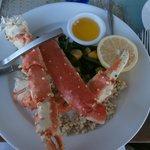 Much smaller crab leg portion: $50?!?