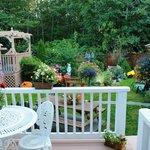 Patio window from bedroom to deck and garden